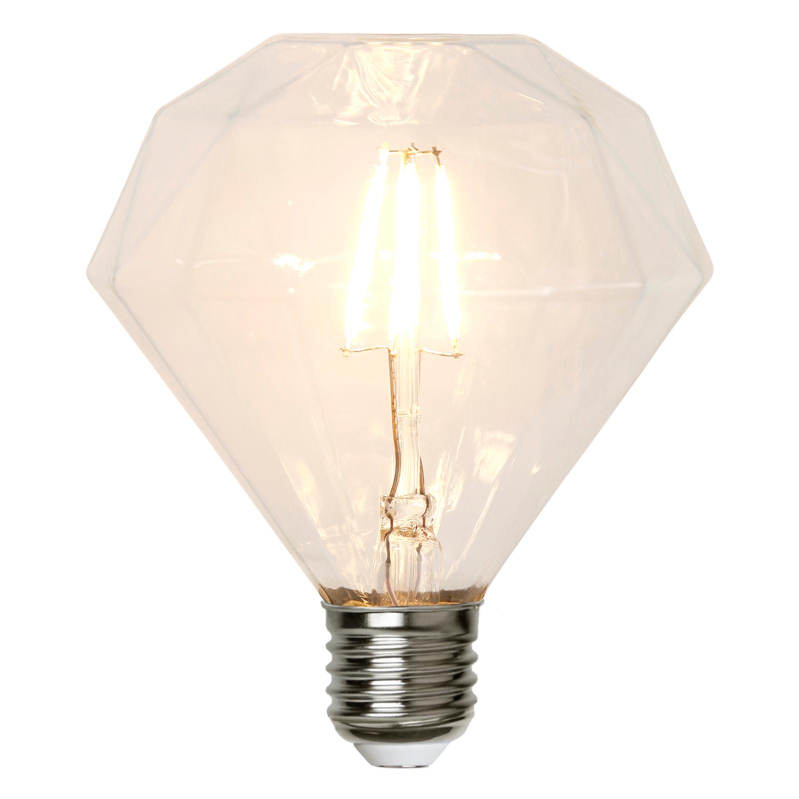 E27 3,2W 827 LED-Lampe diamantenförmig, 13,2 cm
