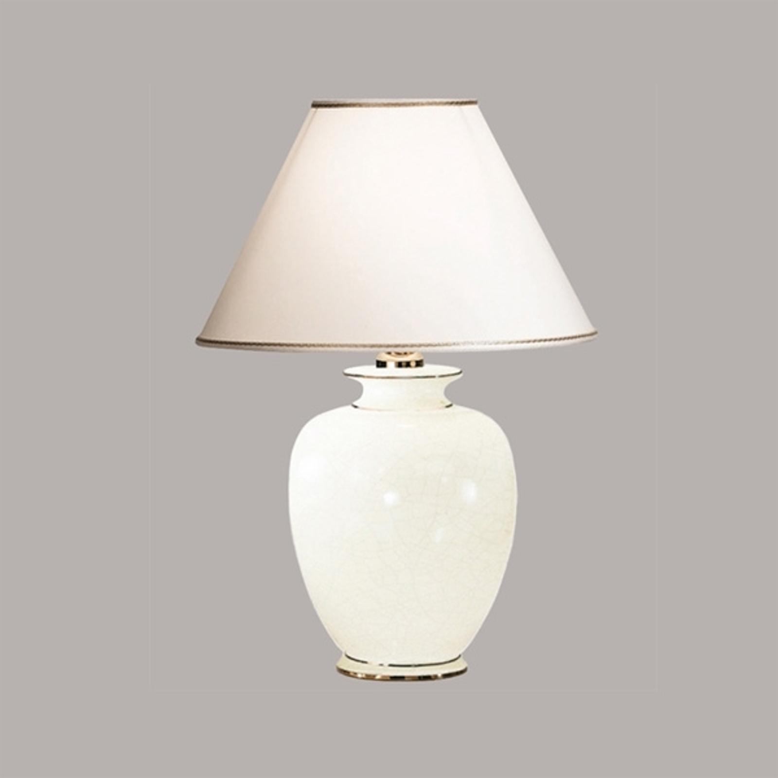 Witte tafellamp GIARDINO CRACLEE, 40 cm