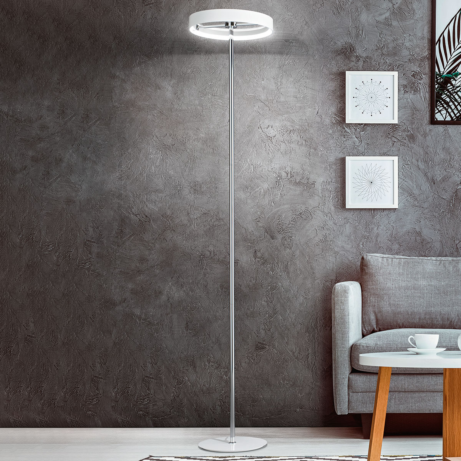 Lampadaire LED Double, variateur d'intensité