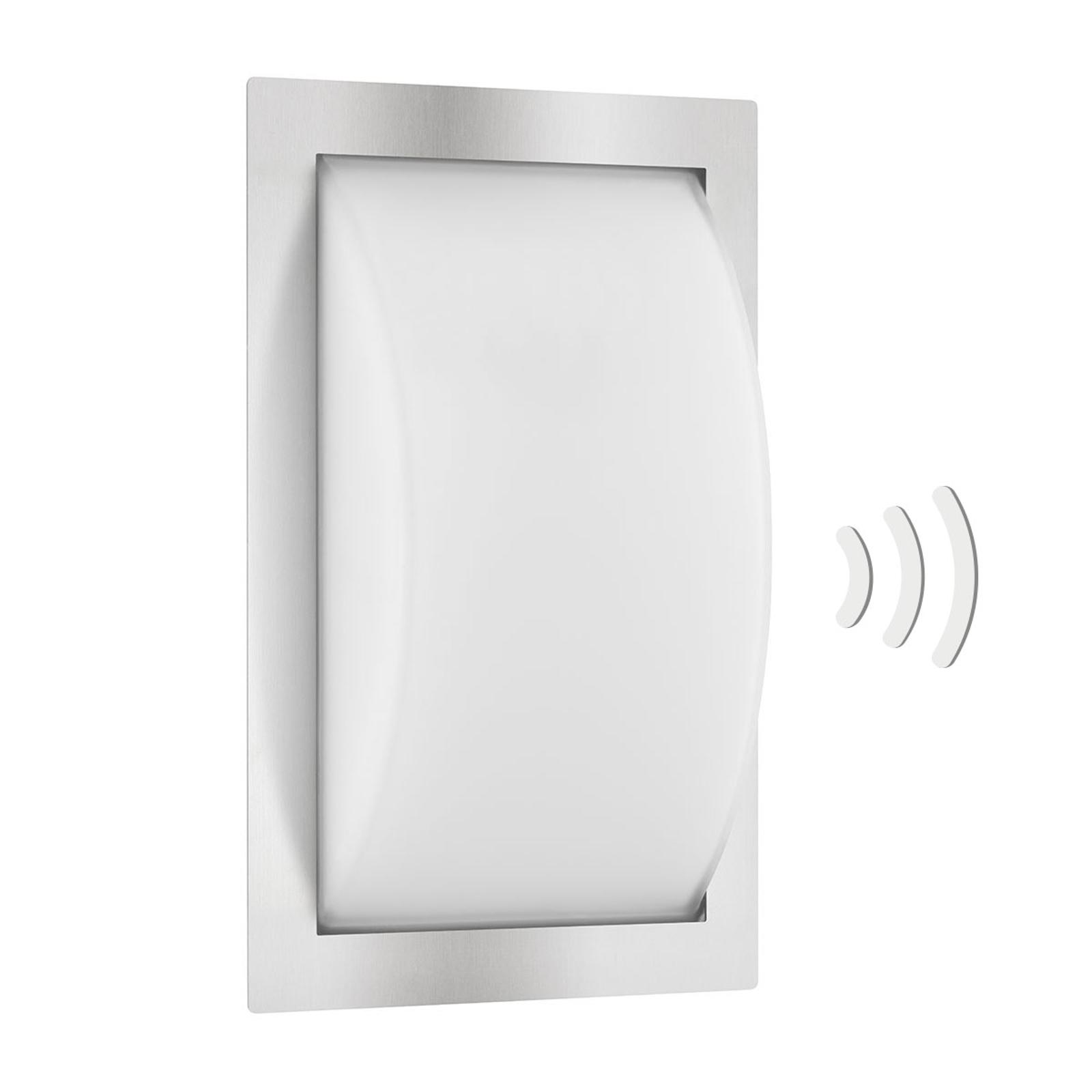 Buitenwandlamp Ivett E27 RVS met bewegingsmelder