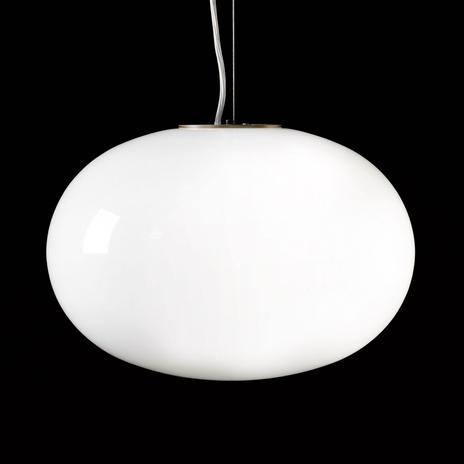 Oluce Alba - lampa wisząca opalowe szkło, 1-pkt.