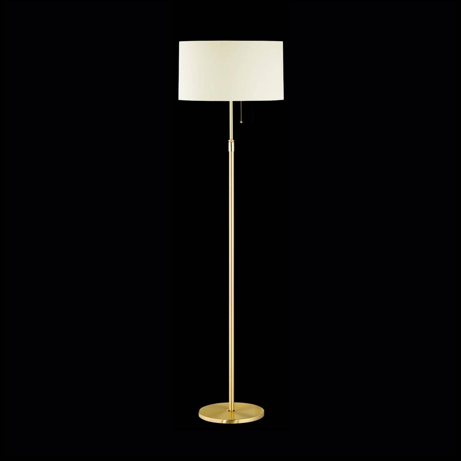 Mosiężna lampa stojąca LOOP