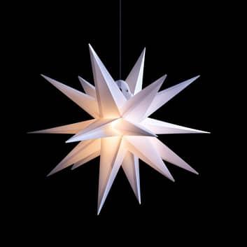LED-stjärna för utomhusbruk, 18-uddig, vit Ø 40 cm