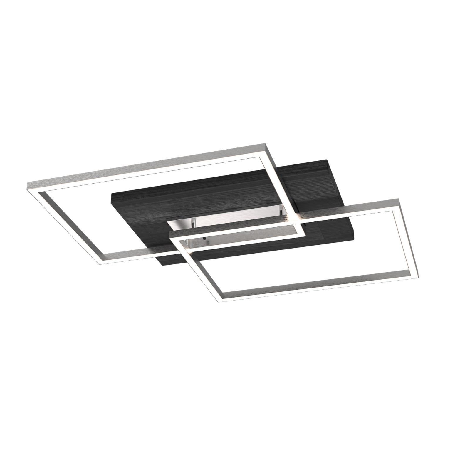 LED-Deckenleuchte Panama L, Eiche schwarz