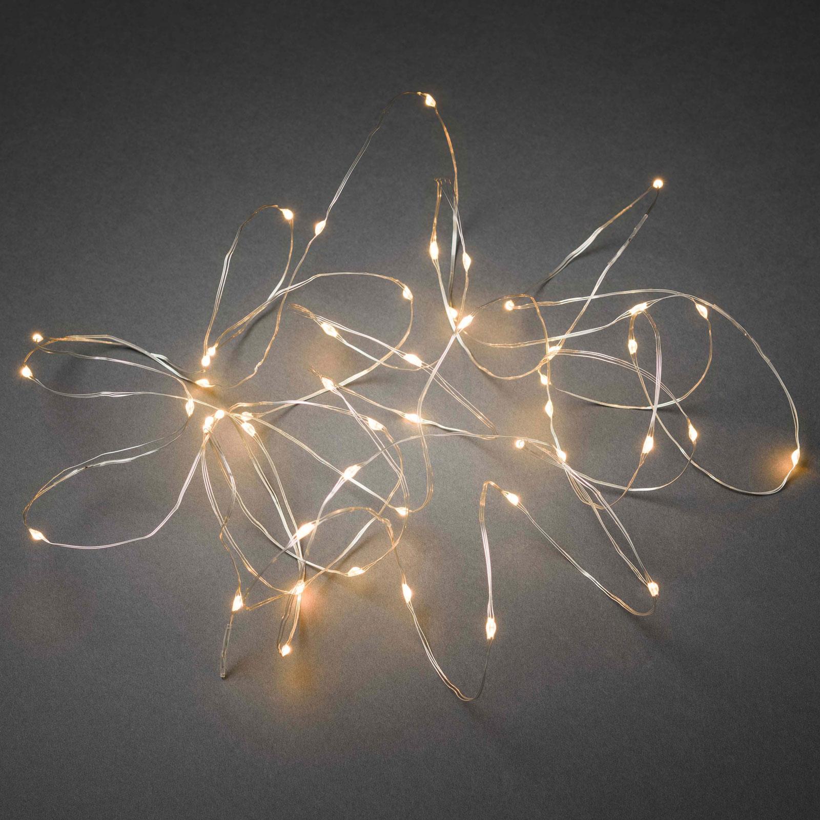 LED-lampekjede Dråper, app-kontrollerbar, 200 lk