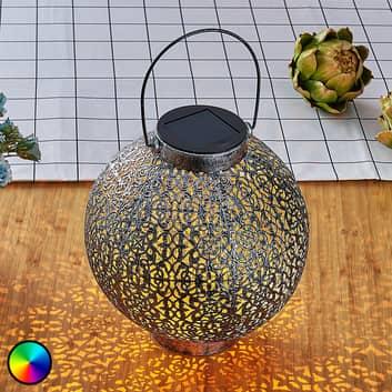 Lanterne solaire RVB LED Dunjaris ornements cuivre