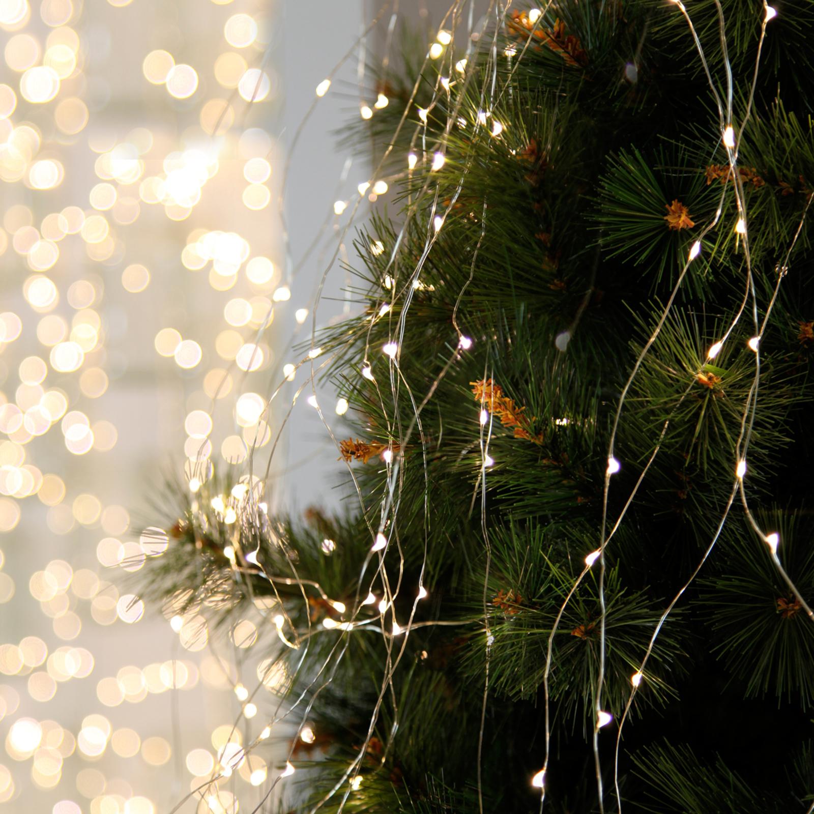Dew Drops - LED-ljusbukett för inomhus, 125 lampor