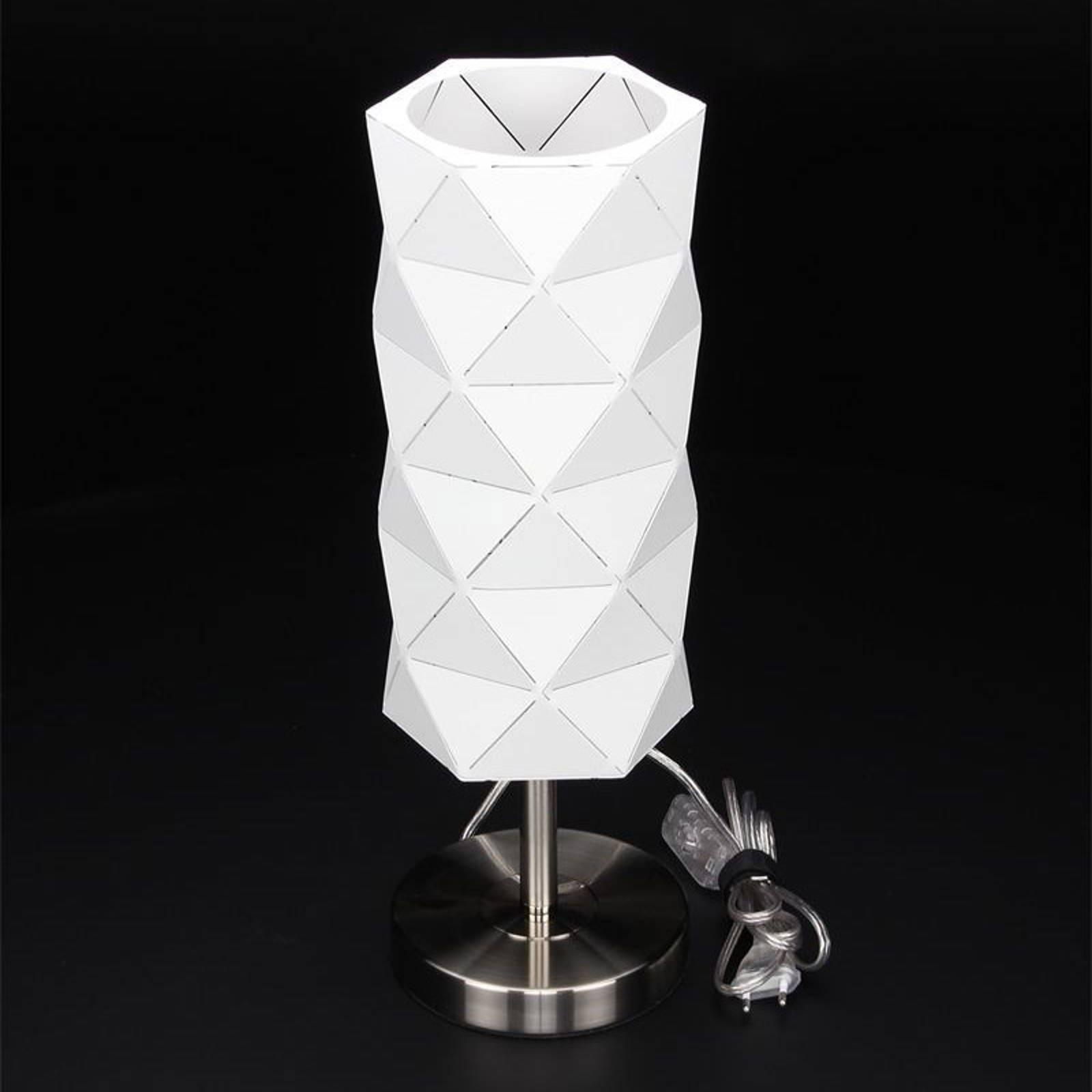 Tafellamp Asterope, lineair wit