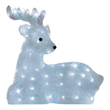 LED-figur Hjort, liggande