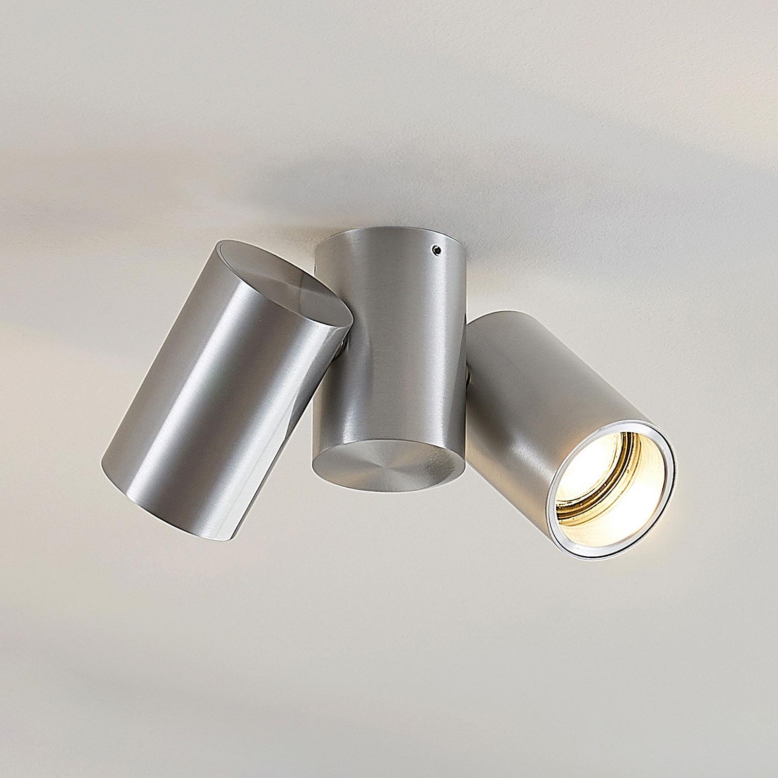 Taklampa Gesina, 2 lampor, aluminium
