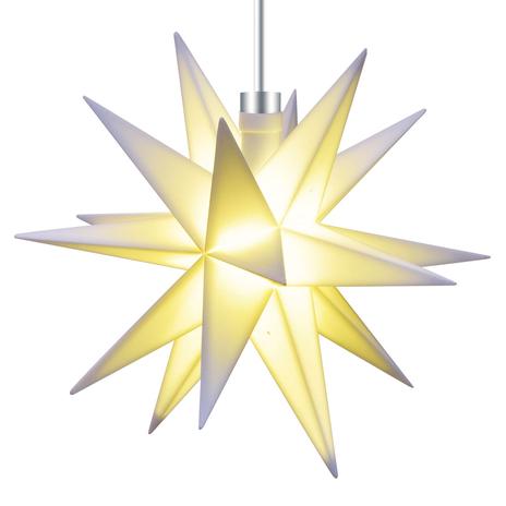Biała 18-ramienna gwiazda 12cm