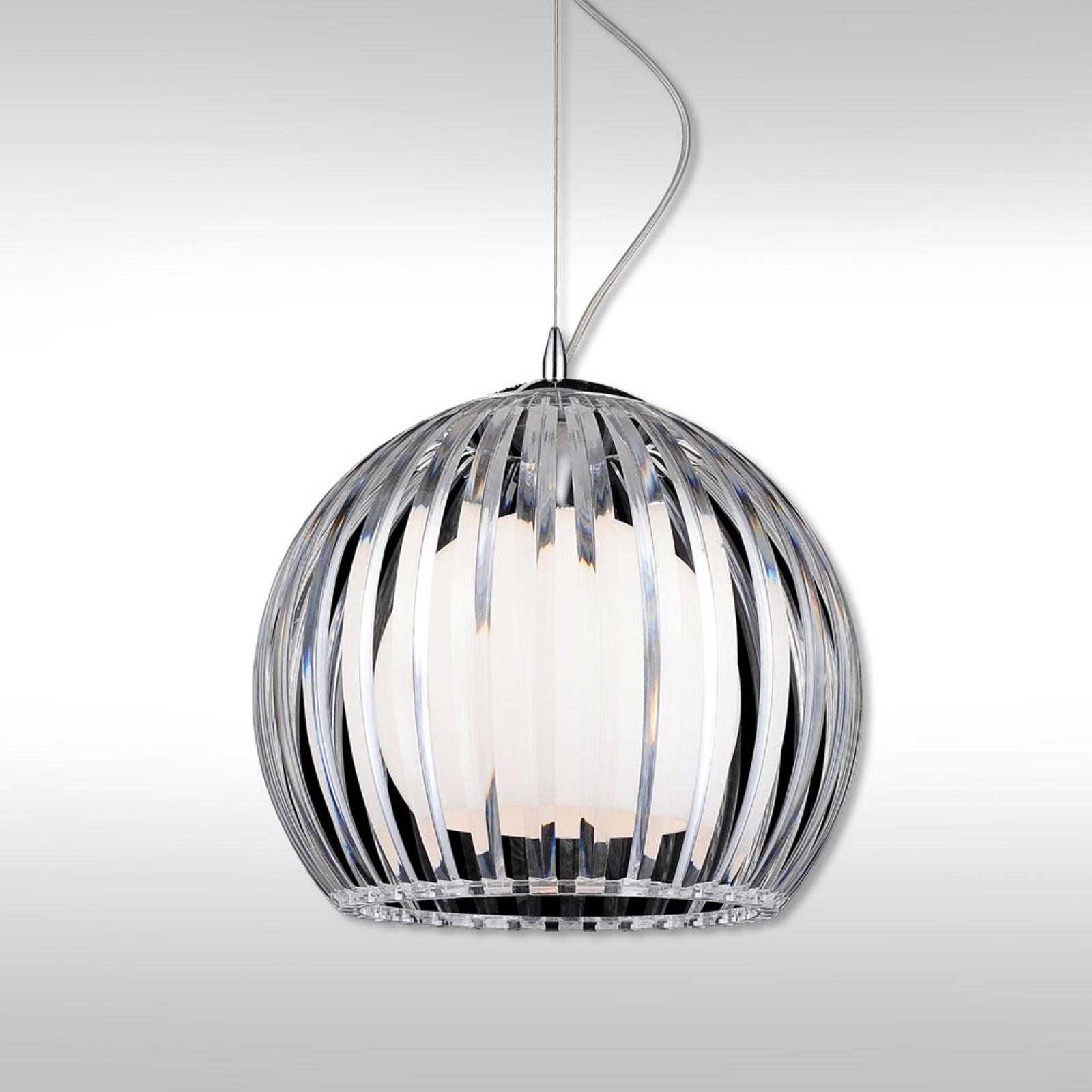Transparante hanglamp Mandina - 30 cm