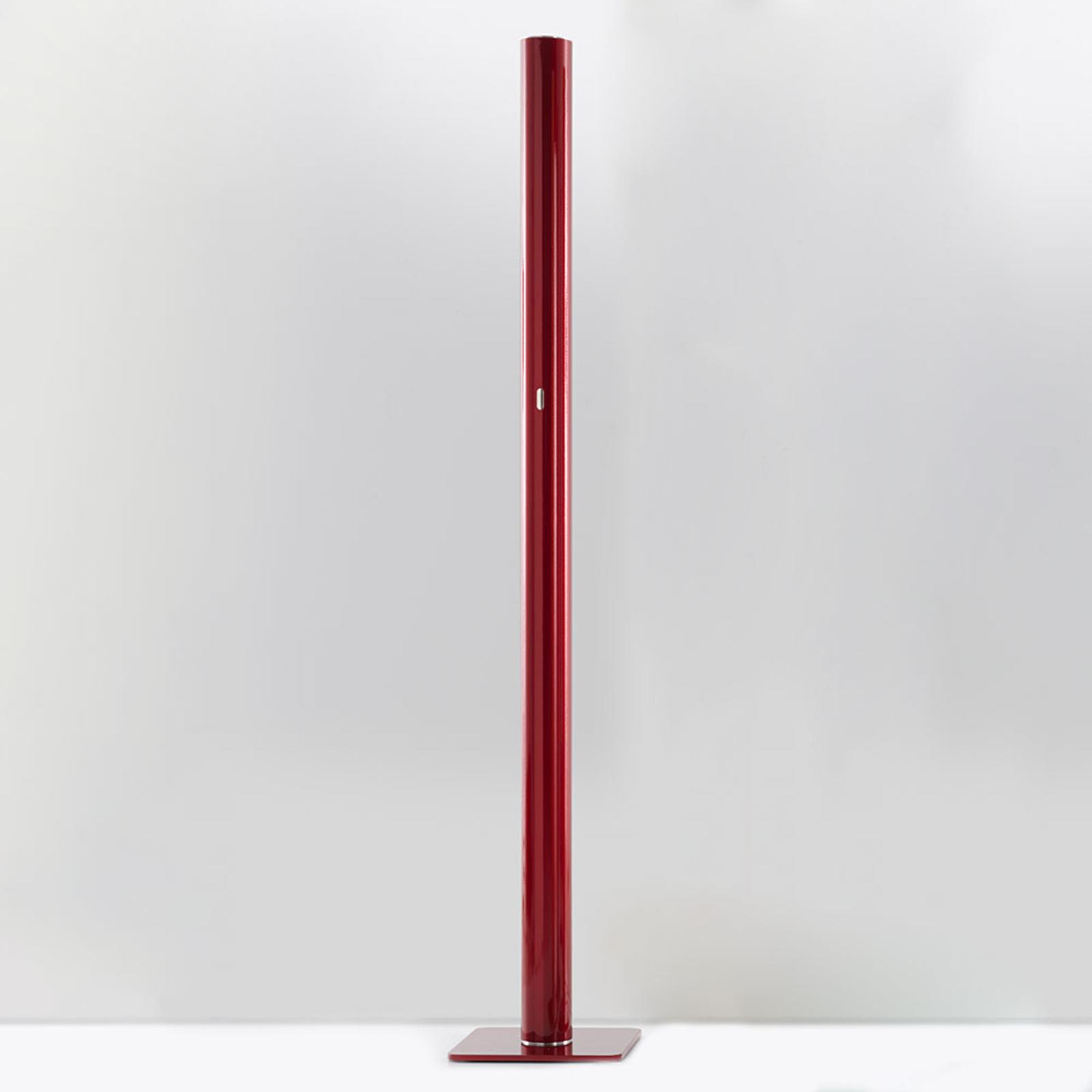 Artemide Ilio – LED-golvlampa, app, röd, 3000K