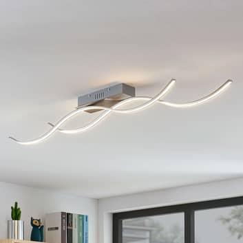 Lámpara LED de techo Safia en forma onda, 2 luces