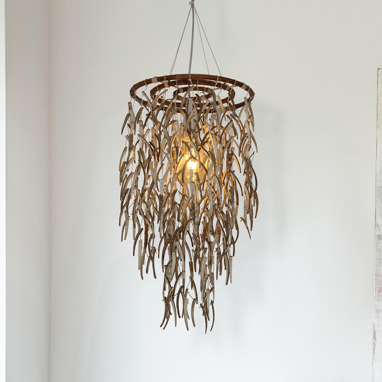 Hanglamp Kokos van natuurlijke materialen, 50 cm