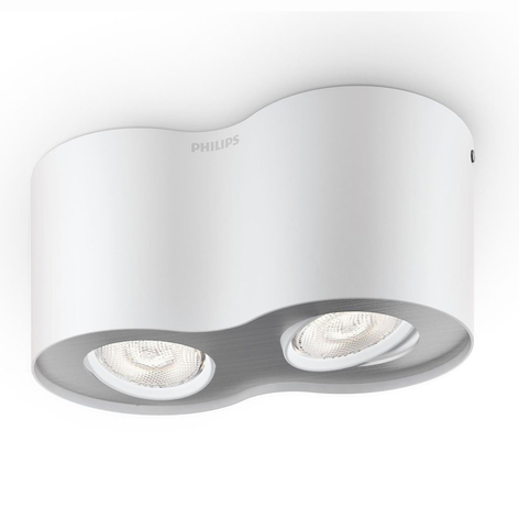 Topunkts LED-spot Phase i hvitt