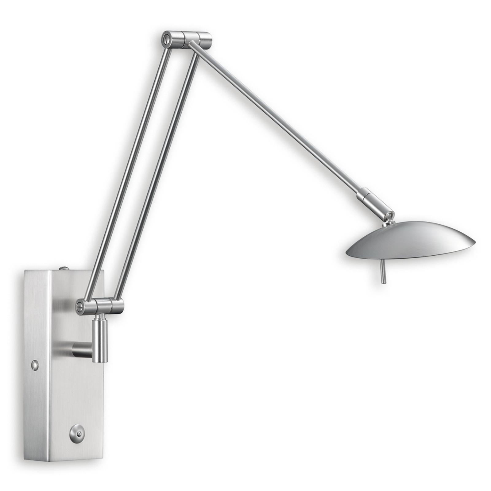 Praktische LED wandlamp LINK, mat nikkel