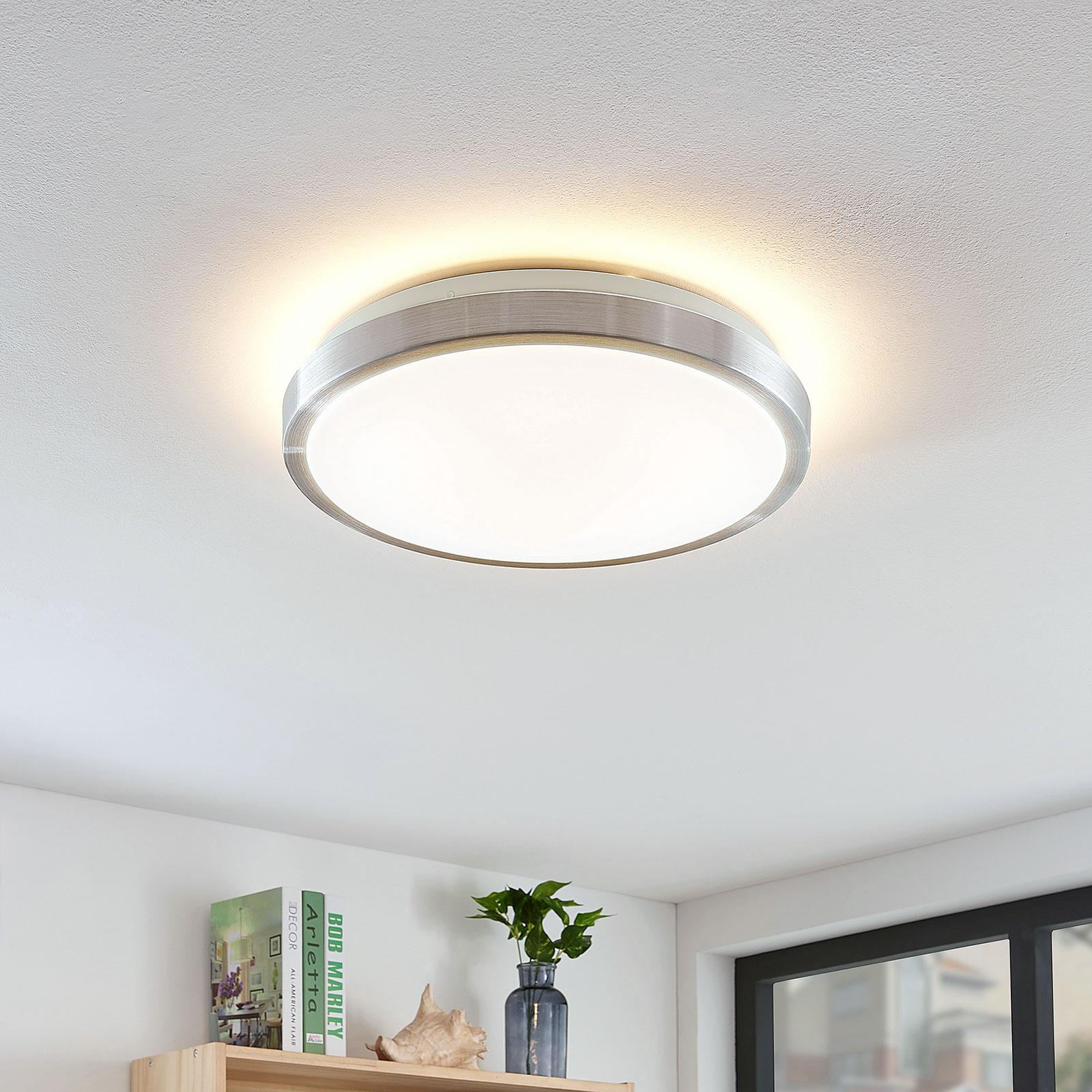 Lindby Emelie plafonnier LED, rond, 35 cm