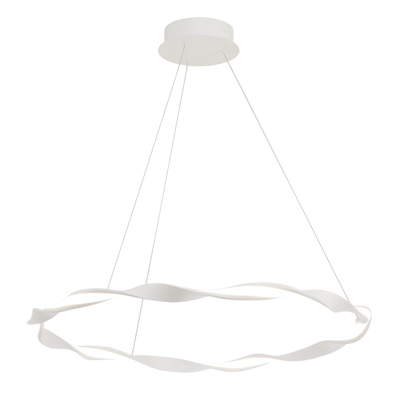 LED hanglamp Madagascar, zandwit, Ø 76 cm