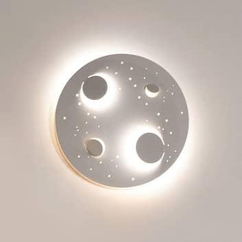 Knikerboker Buchi LED-Wandlampe Ø 40cm weiß