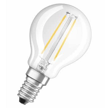 OSRAM żarówka kropla LED E14 827 przezroczysta