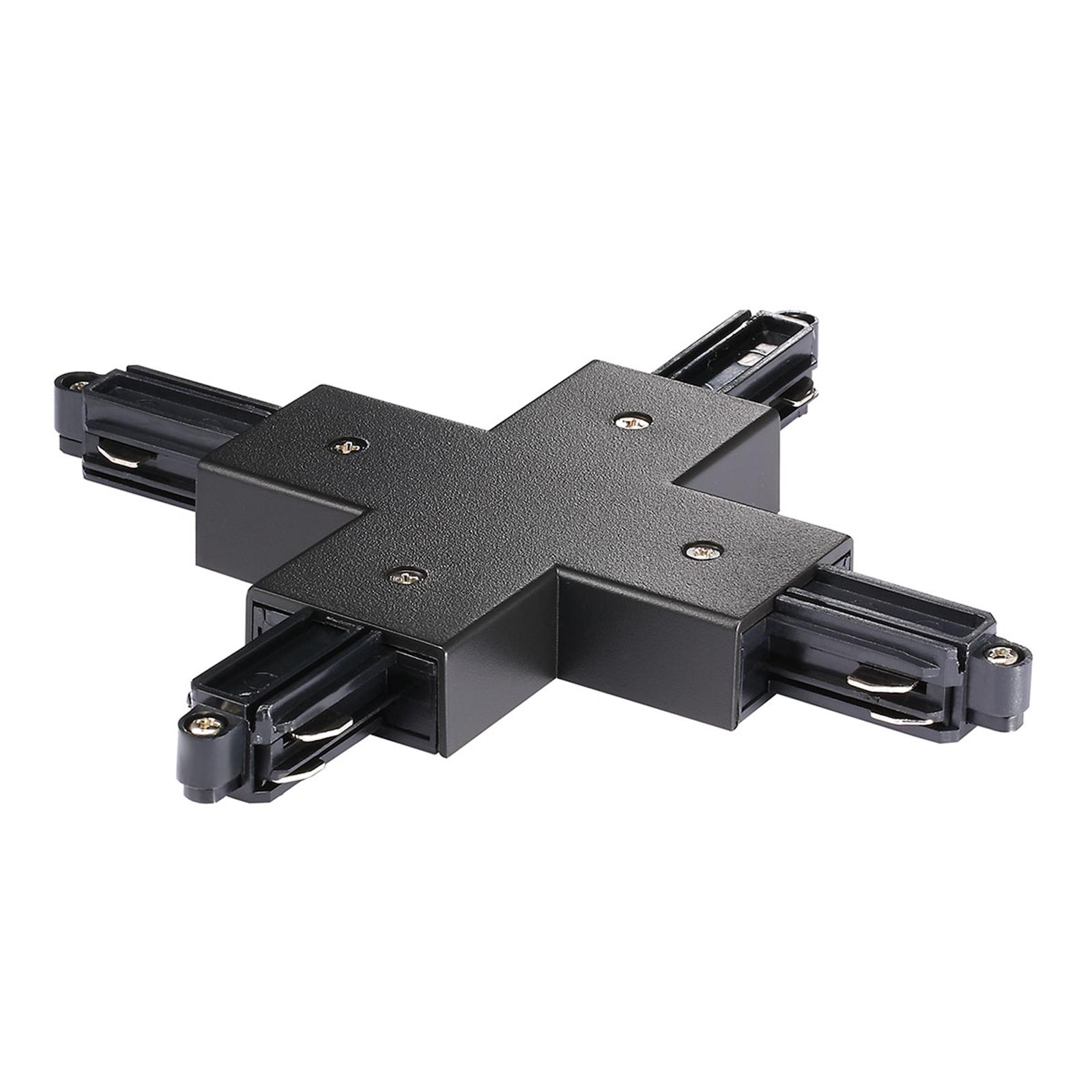 X-kontakt for strømskinne Link, svart