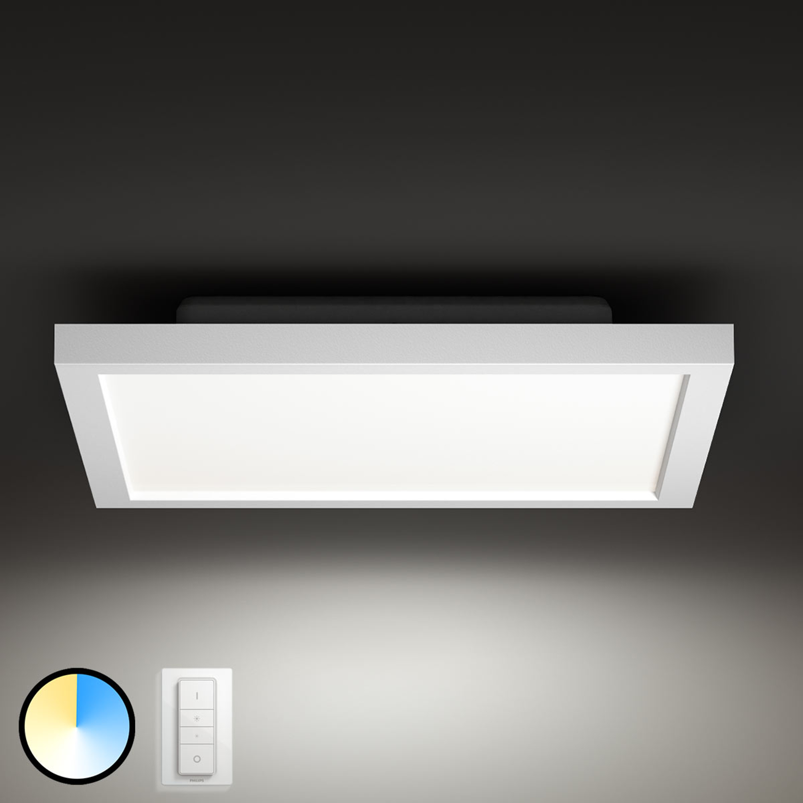 Philips Hue Aurelle LED-panel kantet 30 x 30cm