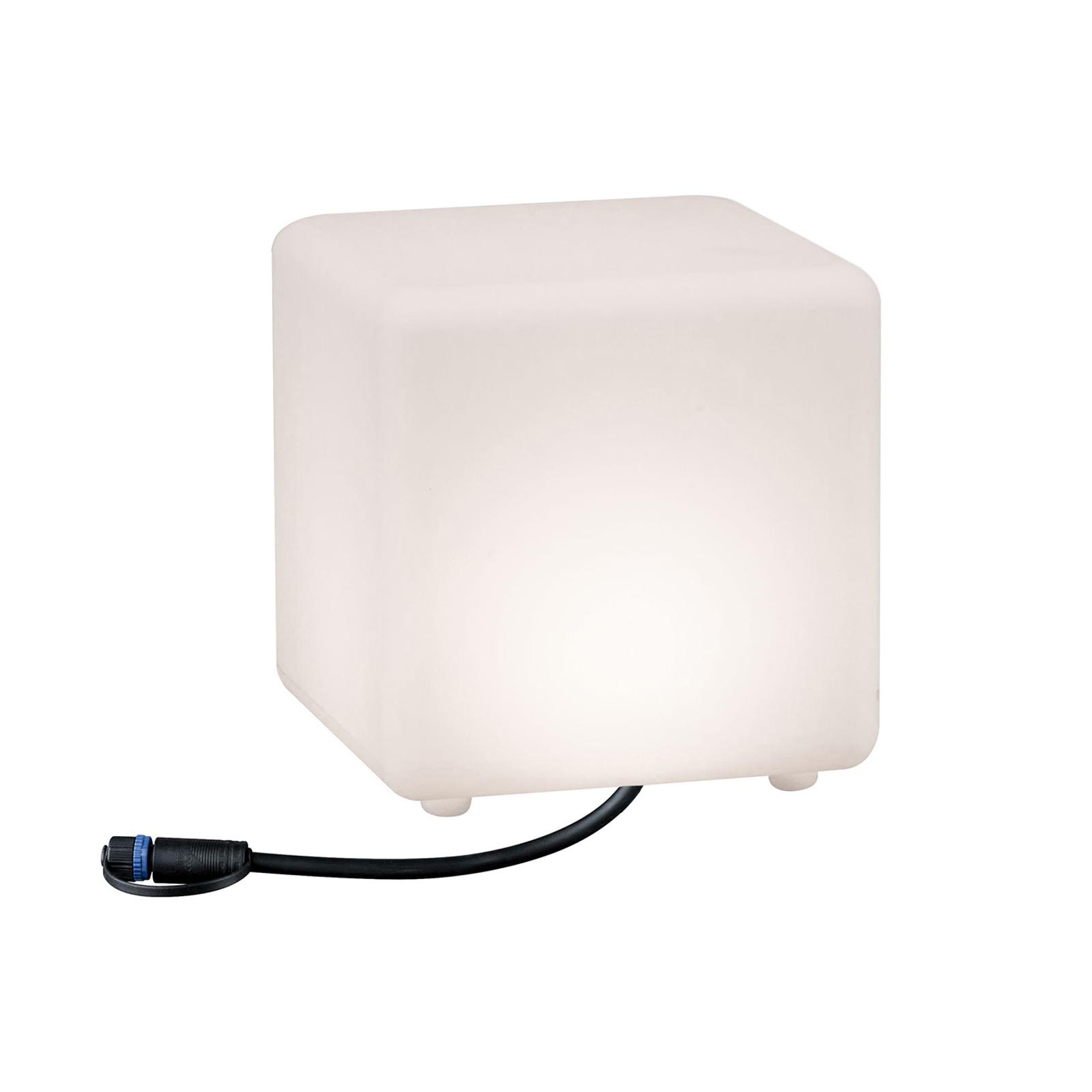 Paulmann Plug & Shine LED-Dekoleuchte Cube 20 cm
