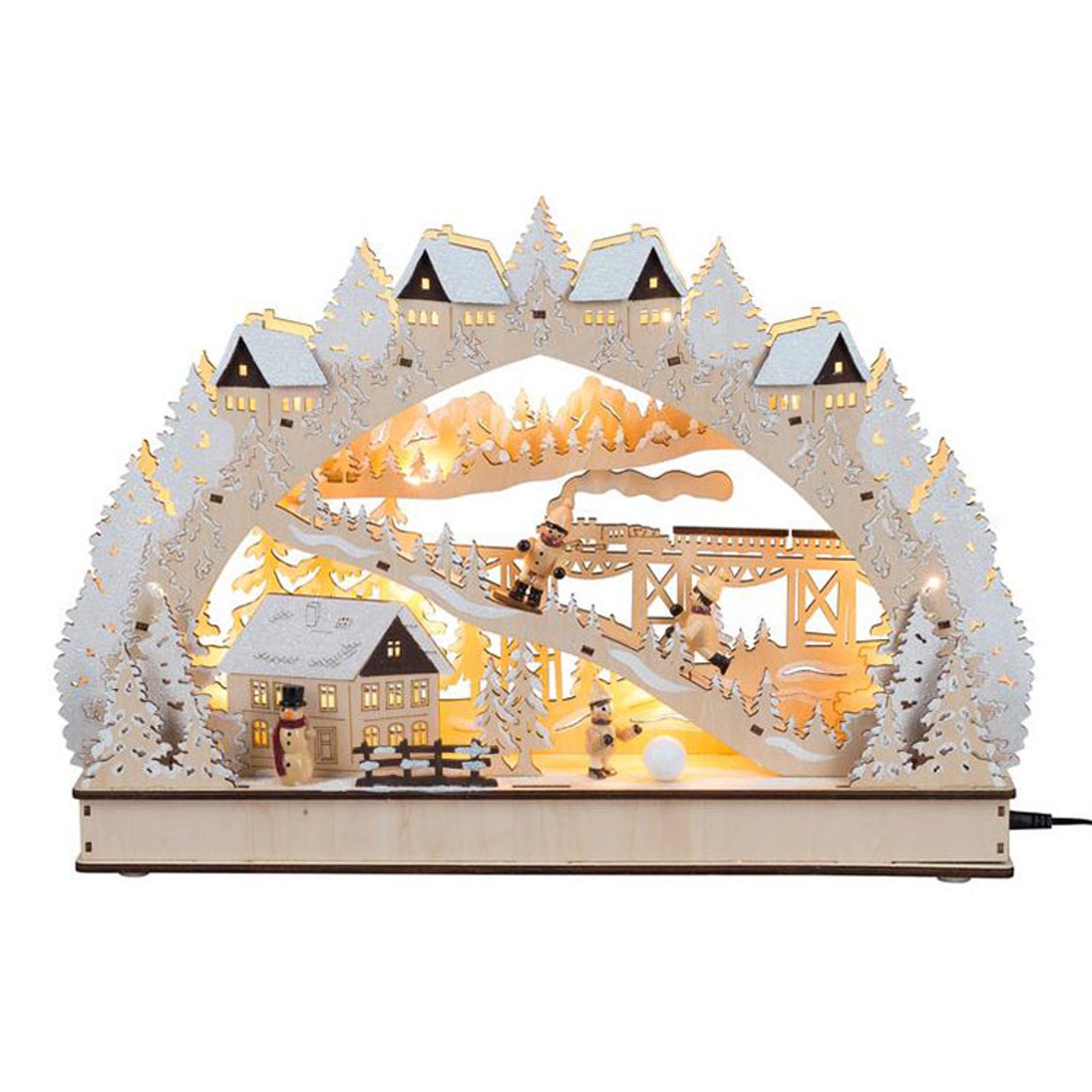 Schwibbogen Winterromantik LED Batterie und Trafo