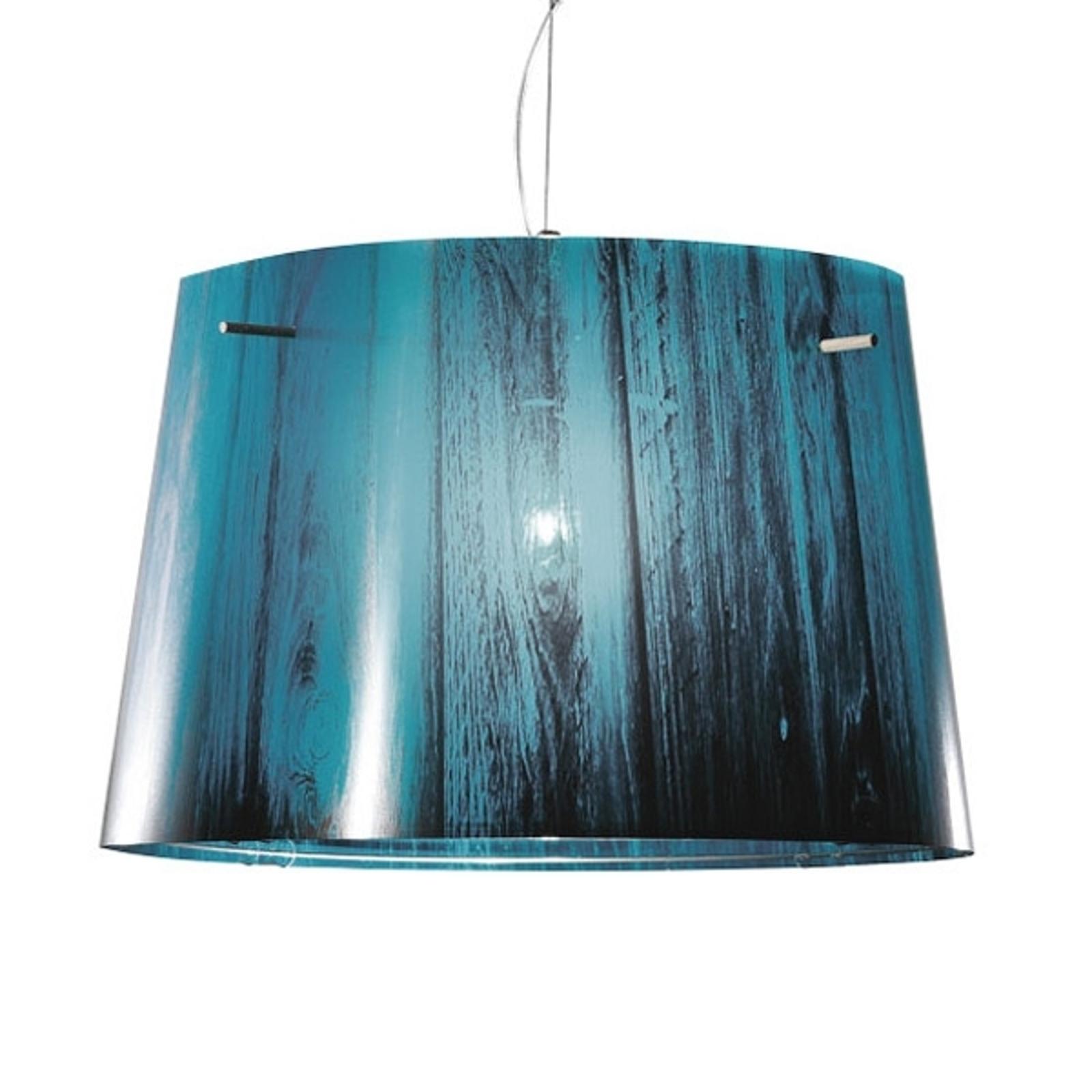 Slamp Woody - gradatie-hanglamp, blauw