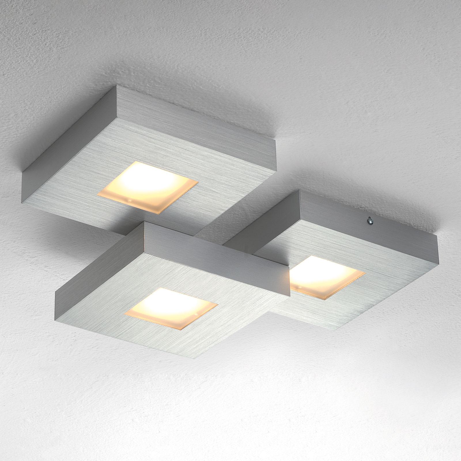 Cubus – kolmilamppuinen LED-kattovalaisin
