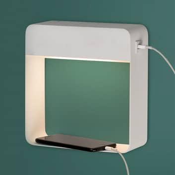 Applique LED Denver, caricatore USB, interruttore
