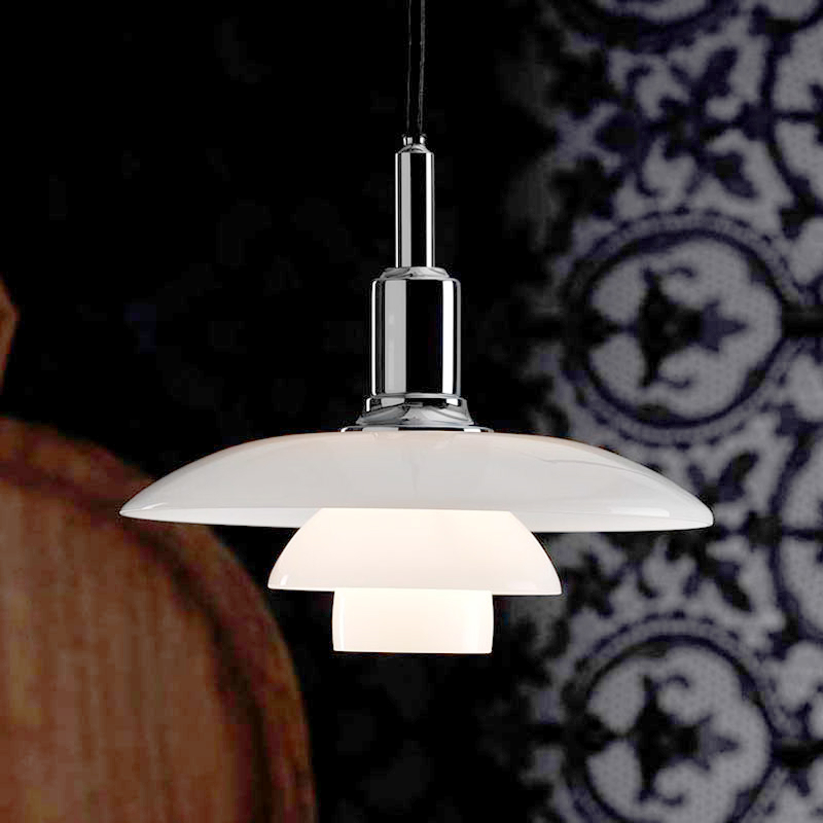 Decoratieve hanglamp PH 3/2, chroom