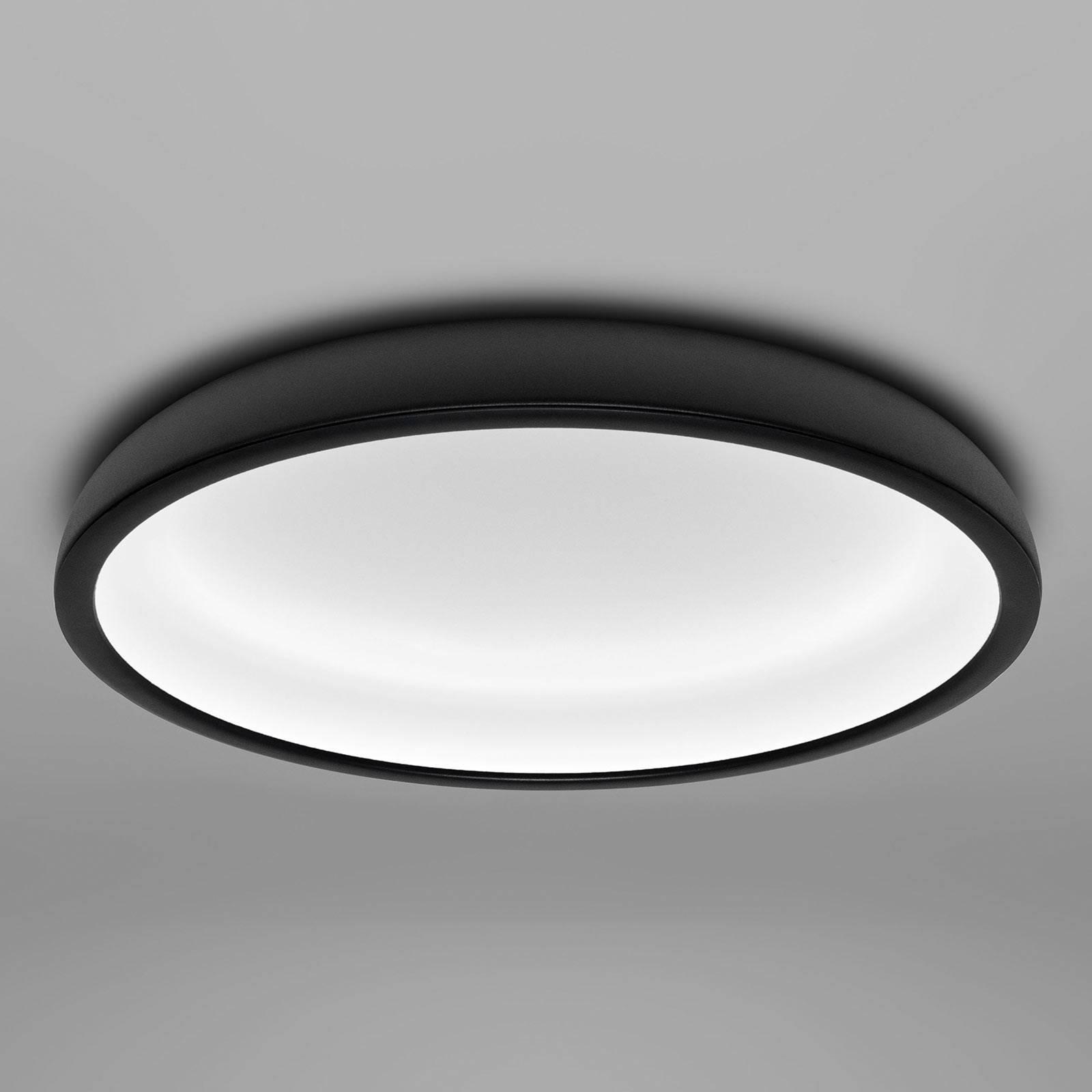 Lampa sufitowa LED Reflexio, Ø 46cm, czarna