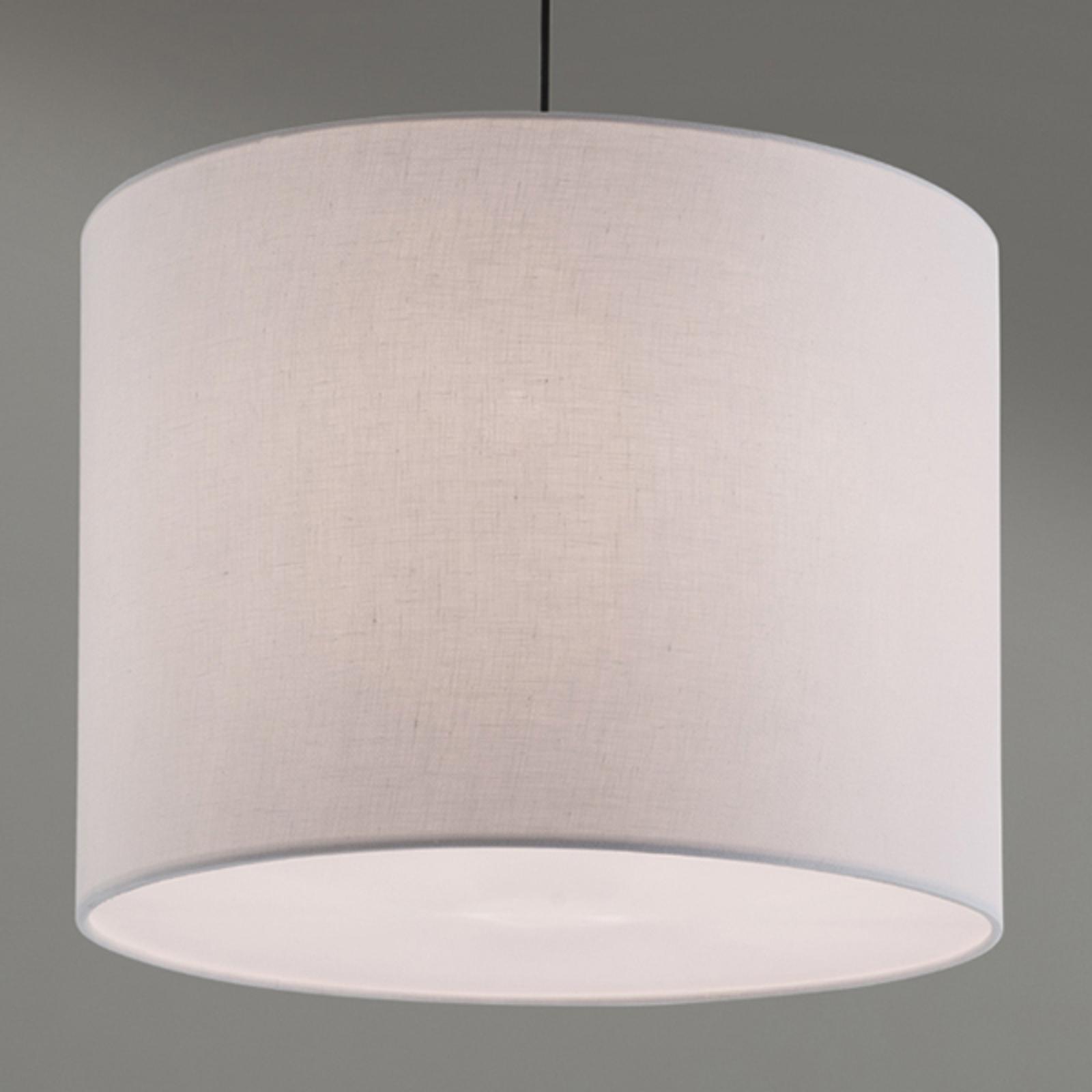 Lampa wisząca Artak z białym materiałowym kloszem