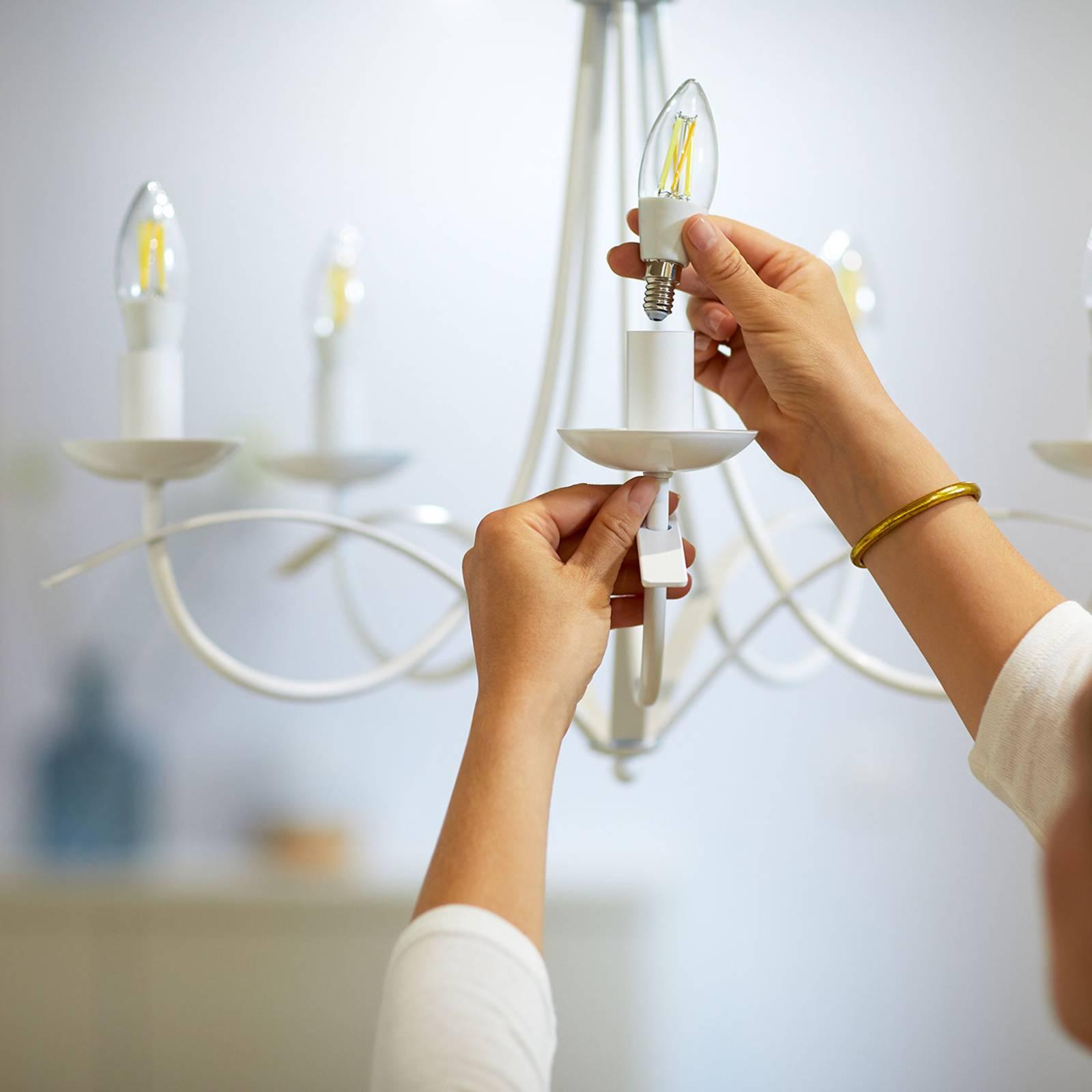 WiZ LED filamenti C35 E14 6,5W 2.700-6.500K