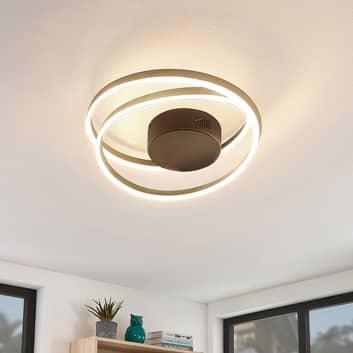 Lindby Davian LED plafondlamp, dimbaar, messing