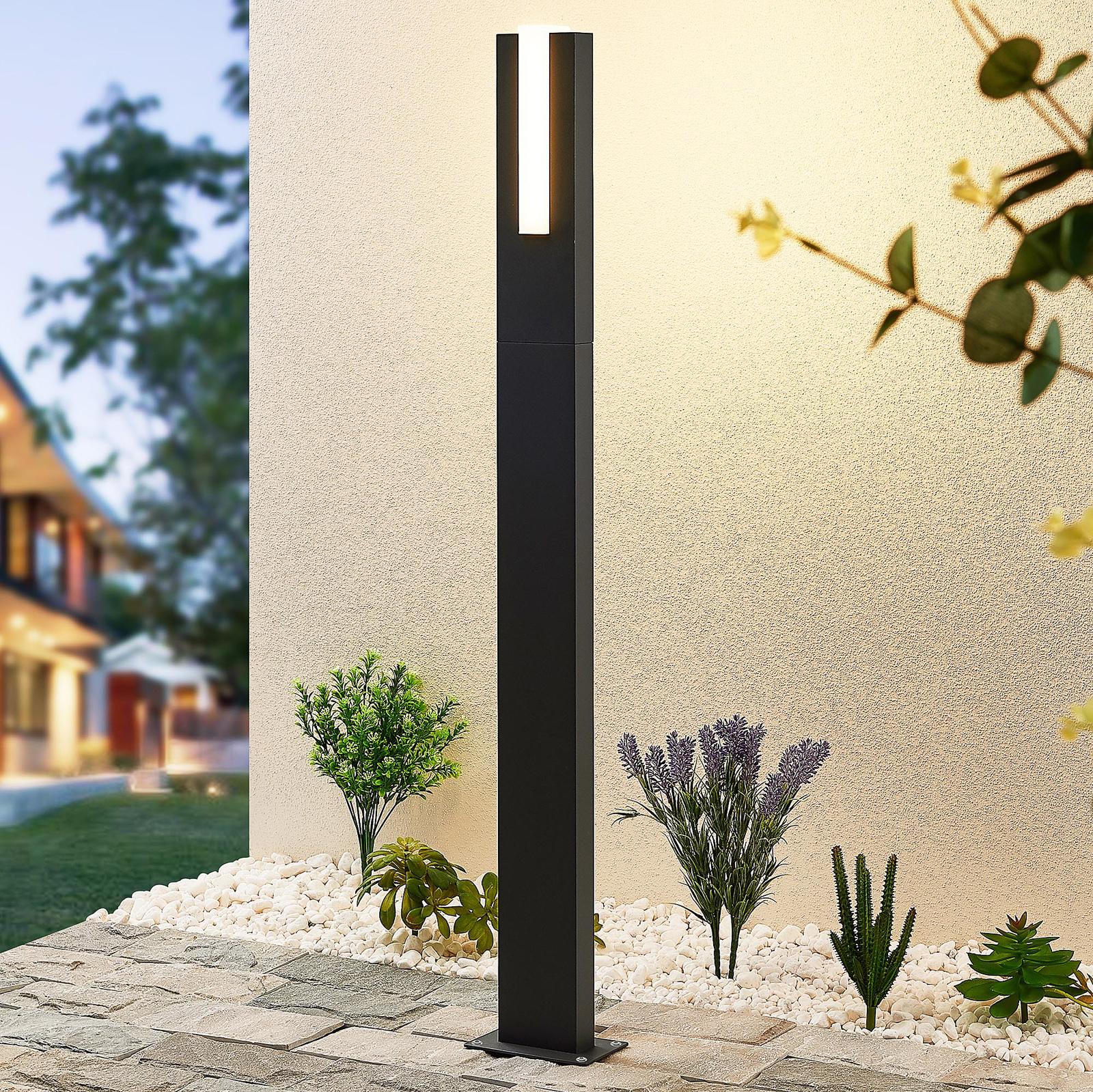 Lucande Virgalia lampione LED, 100 cm