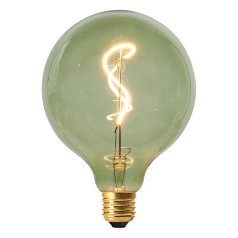LED-Globelampe Dilly E27 4W 2000K dimmbar, grün