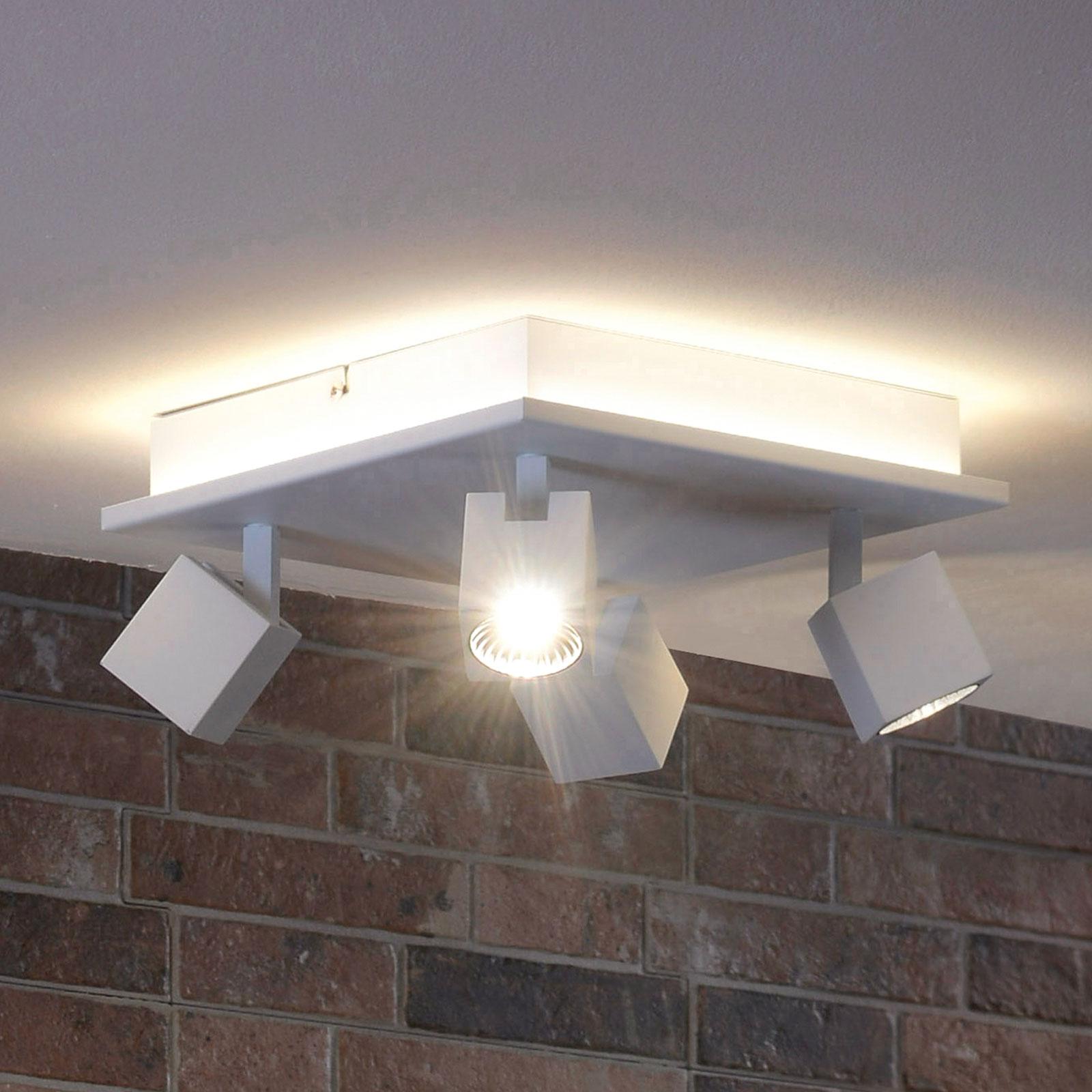 Super Acquista Plafoniera LED Cuba - luce diretta/indiretta   Lampade.it QP98