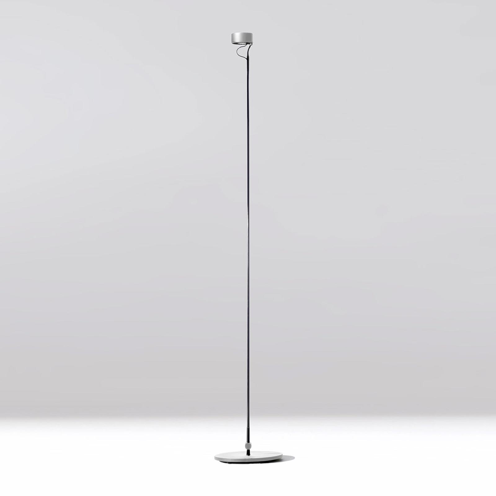 LED-Stehleuchte Basica 930 B, flexibel in Silber