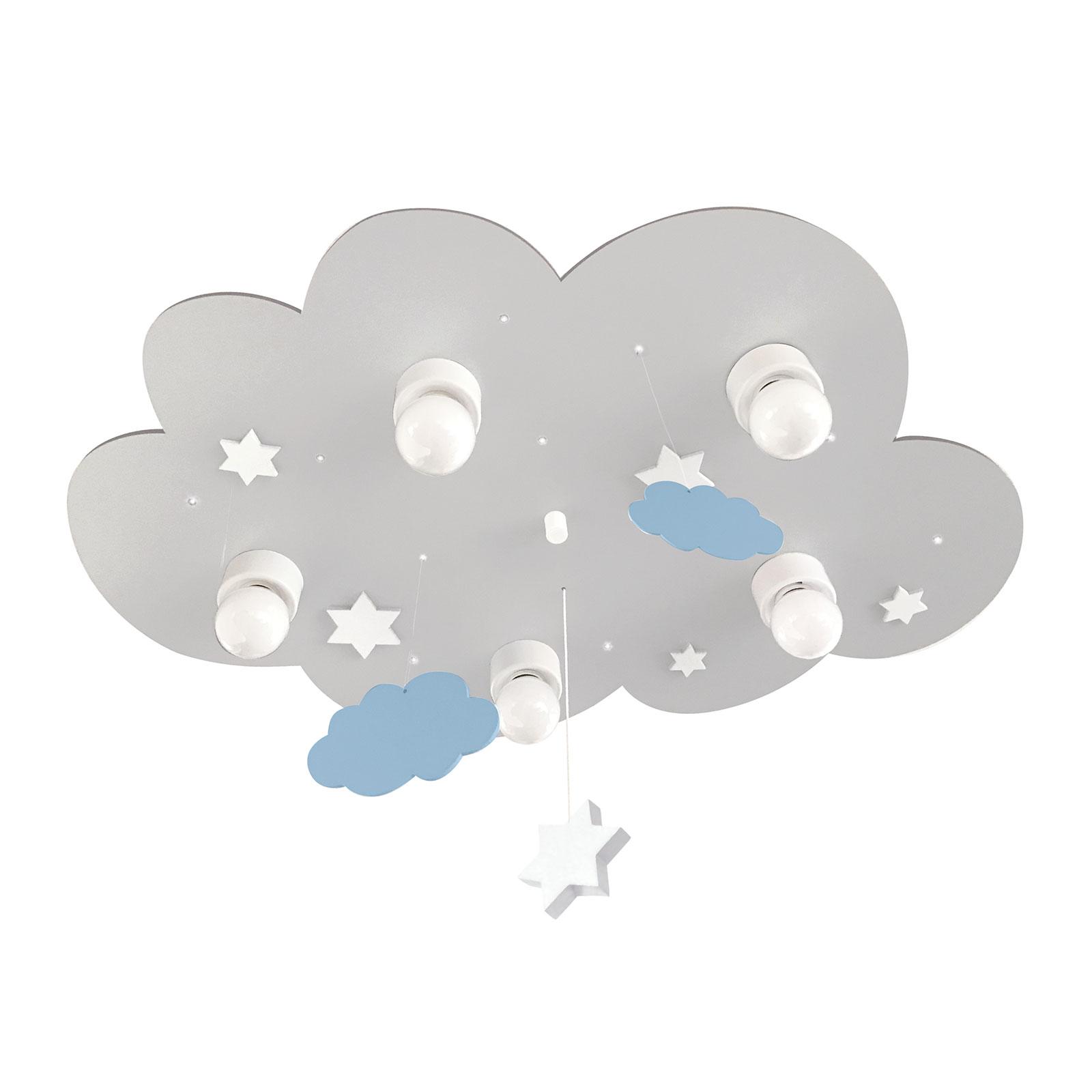 Plafoniera Nuvola, 5 luci, pendenti, grigio