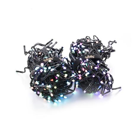 Lenkegruppe Twinkly RGB, svart, 400 lyskilder 6 m