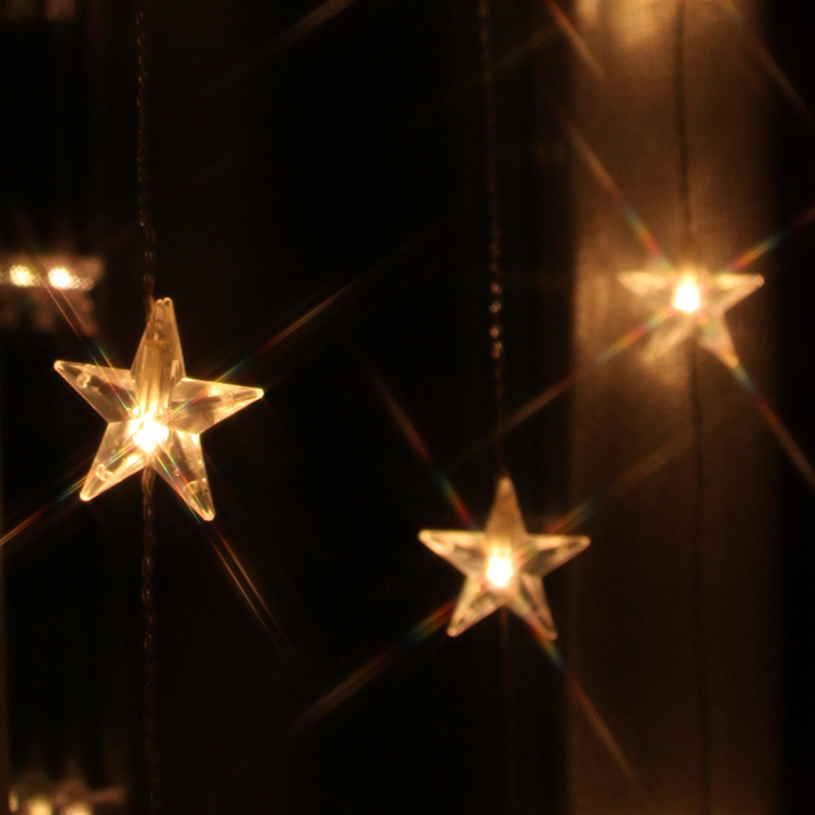 Zehn Stränge - LED-Lichtervorhang Star 20-flg.