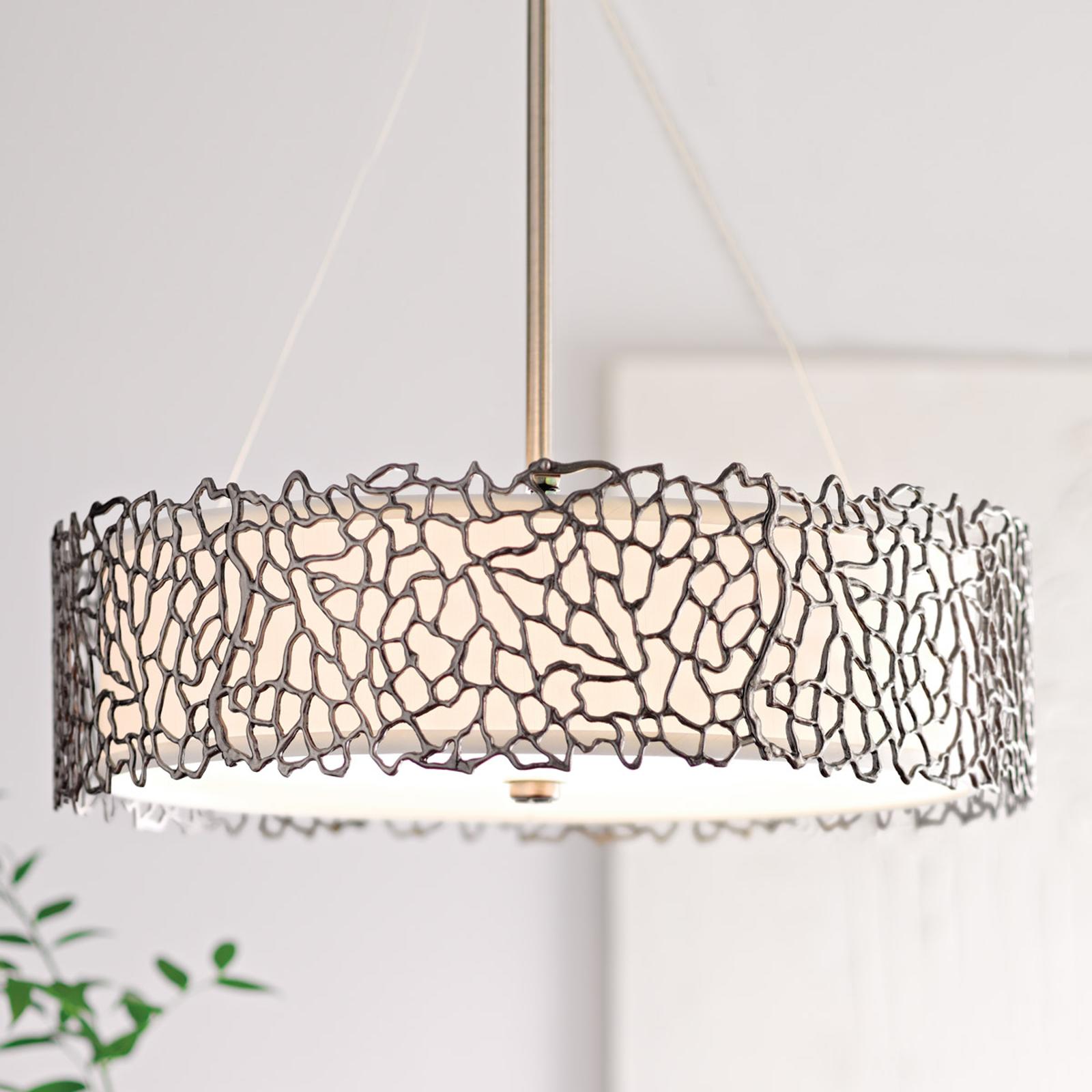 Lámpara de suspensión Silver Coral 55,9 cm