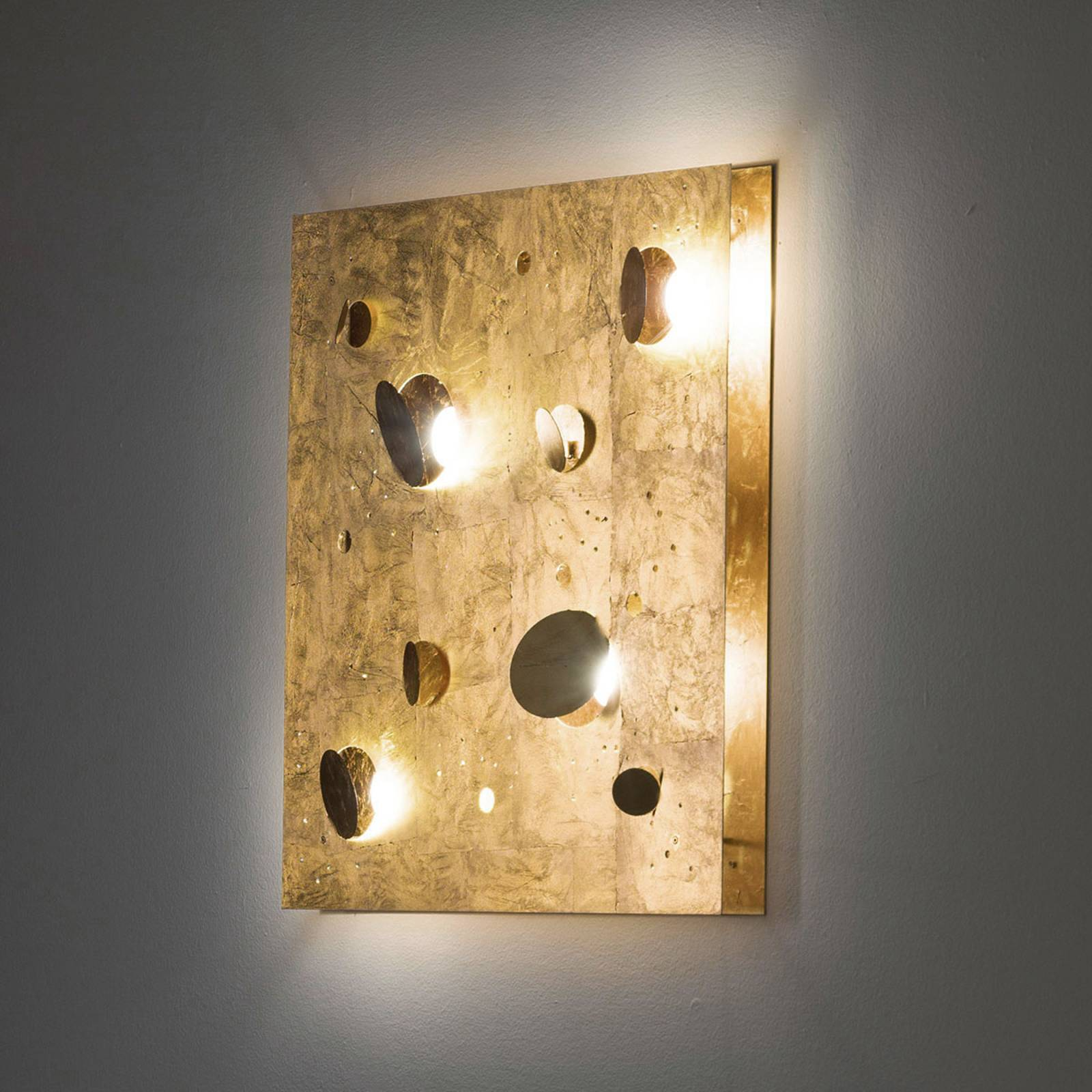 Knikerboker Buchi wandlamp 60x60cm bladgoud