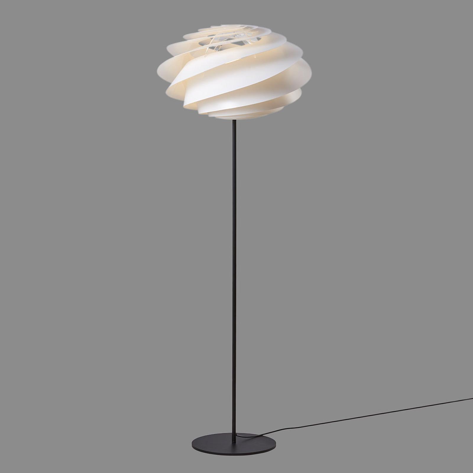 Le KLINT Swirl - witte design vloerlamp