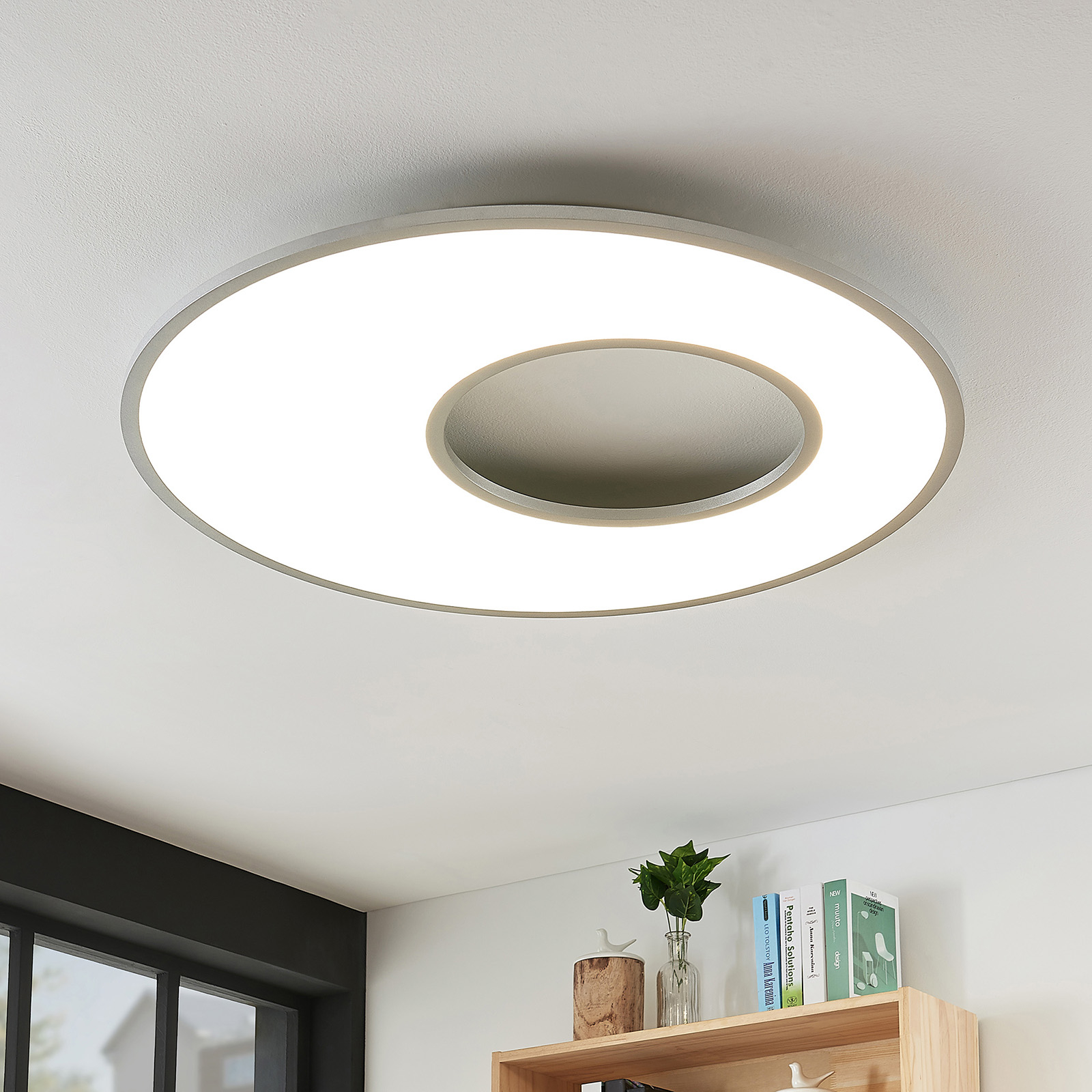 Plafonnier LED Durun, dimmable, CCT, rond, 80 cm