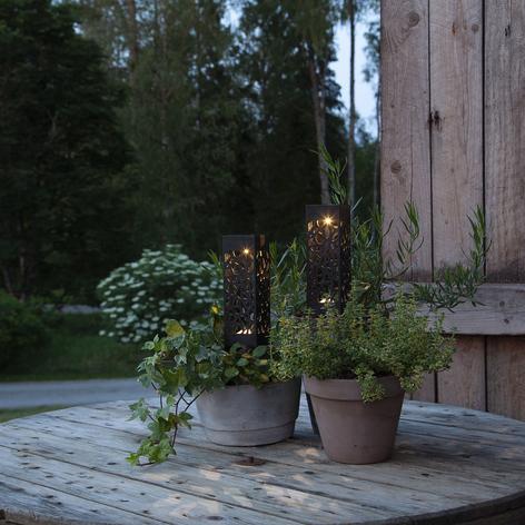 Lampe déco solaire LED Izola avec piquet lot de 2