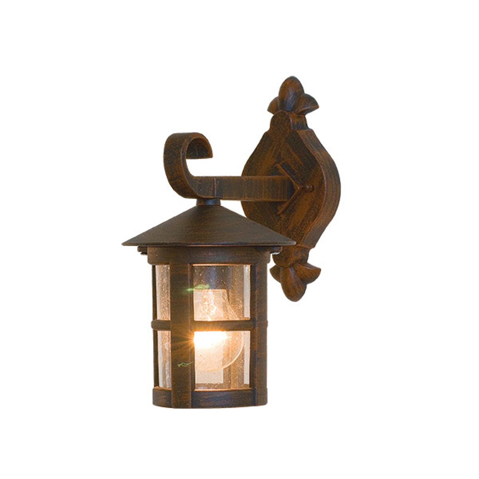 Buitenwandlamp Skiathos IP54 bruin Ø 15,5 cm